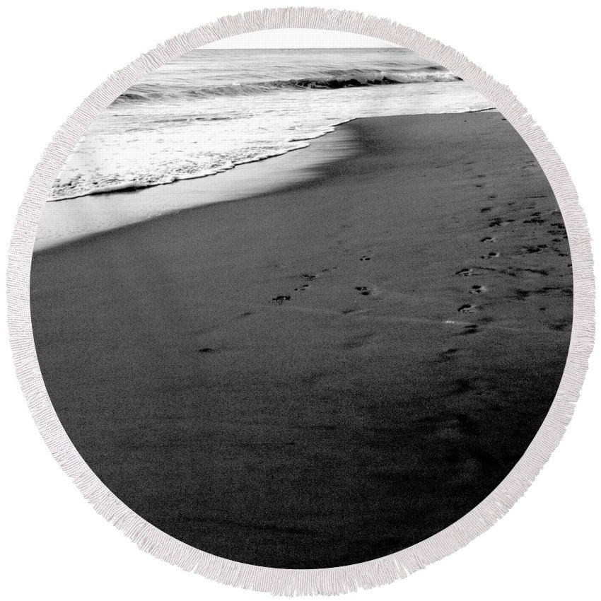 Photograph Round Beach Towel featuring the photograph In My Thoughts by Jean Macaluso