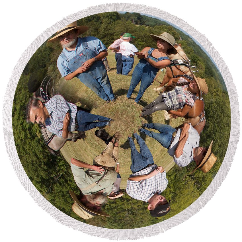 Alicegipsonphotographs Round Beach Towel featuring the photograph In The Circle by Alice Gipson