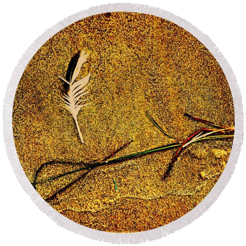 Zen Round Beach Towel featuring the photograph Indian Summer Zen by Susanne Van Hulst