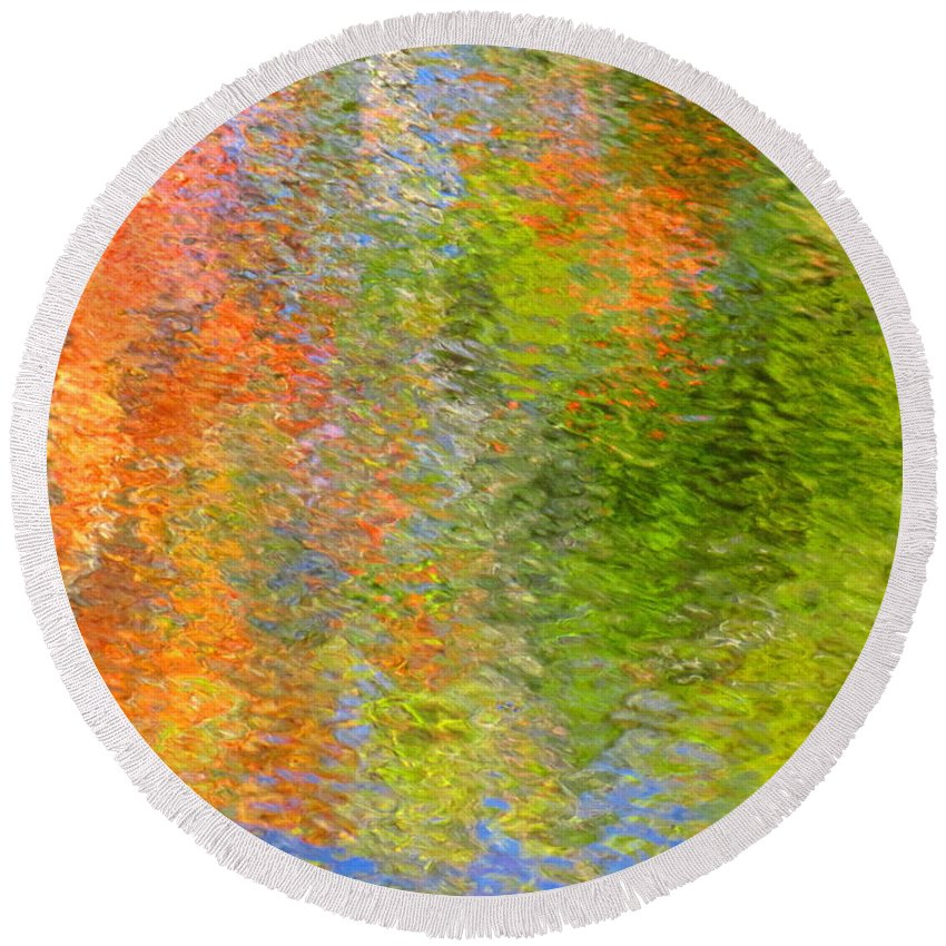 Abstract Round Beach Towel featuring the photograph Otherwise Quiescent by Sybil Staples
