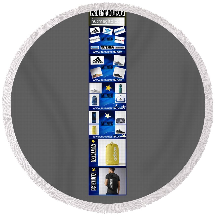 Infographic Round Beach Towel featuring the photograph Info Sports Art by Heinz Rainer