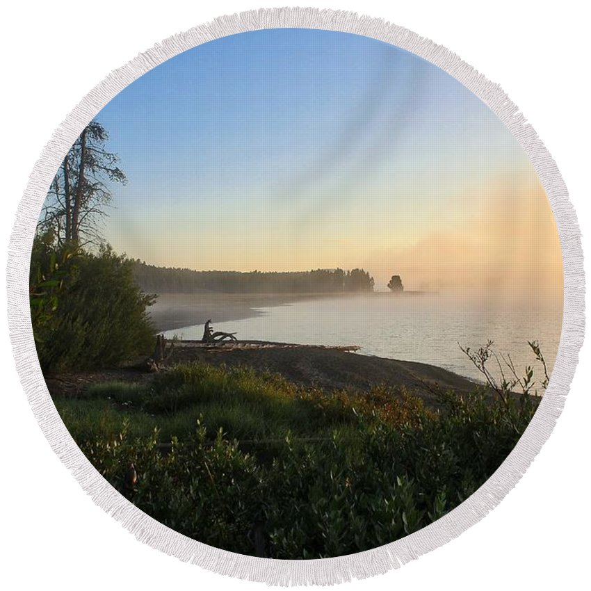 Round Beach Towel featuring the photograph Into The Mist-ick by Phil Cappiali Jr