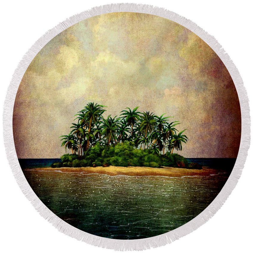 Island Round Beach Towel featuring the photograph Island Of Dreams by Susanne Van Hulst