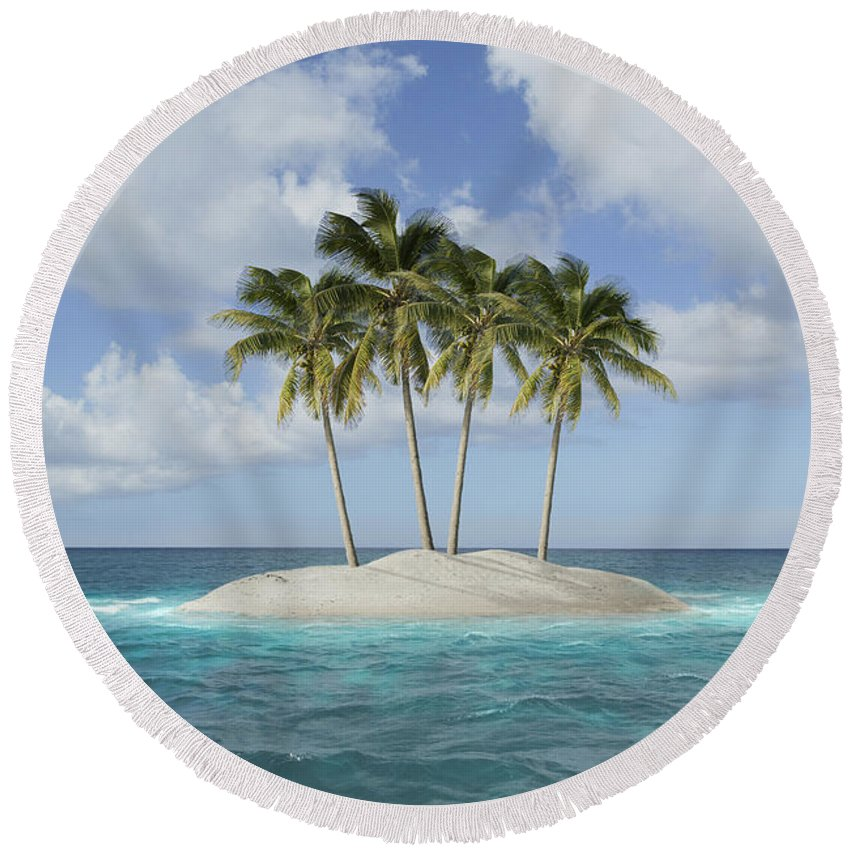 Island Round Beach Towel featuring the photograph Island Paradise by Guy Crittenden