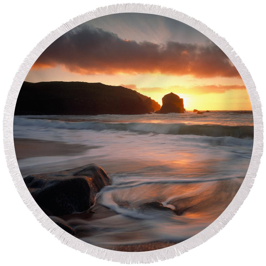 Photography Round Beach Towel featuring the photograph Isle Of Lewis Outer Hebrides Scotland by Panoramic Images