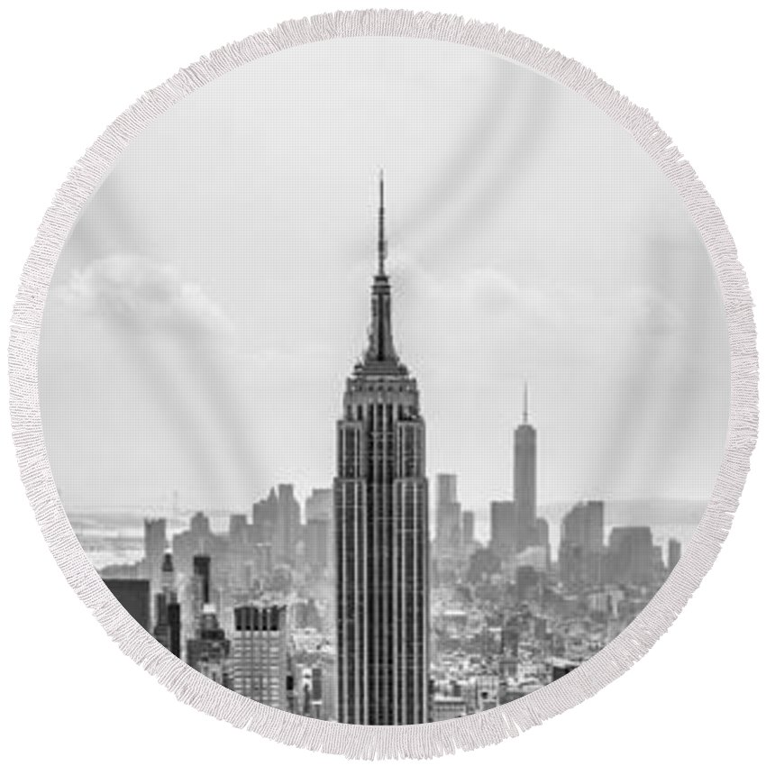 Empire State Building Round Beach Towel featuring the photograph It's A Jungle Out There by Az Jackson