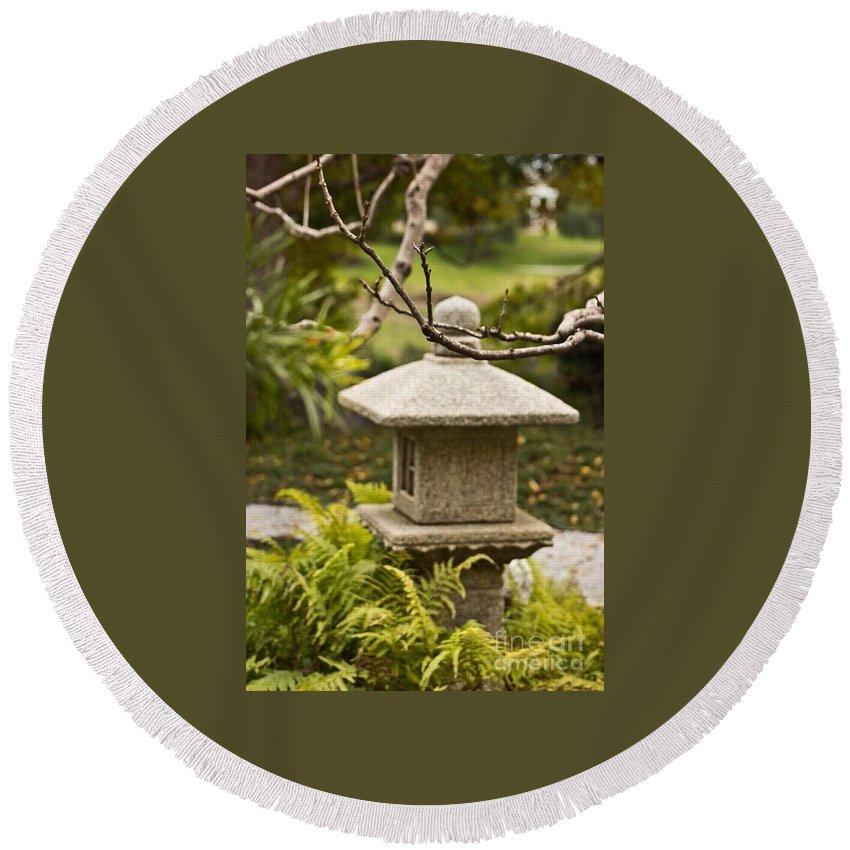 Japanese Friendship Garden Round Beach Towel featuring the photograph Japanese Friendship Garden 1 by Marta Robin Gaughen