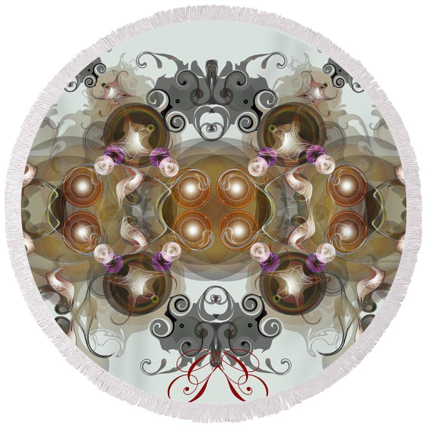 Jewels Round Beach Towel featuring the digital art Jewels2 by George Pasini