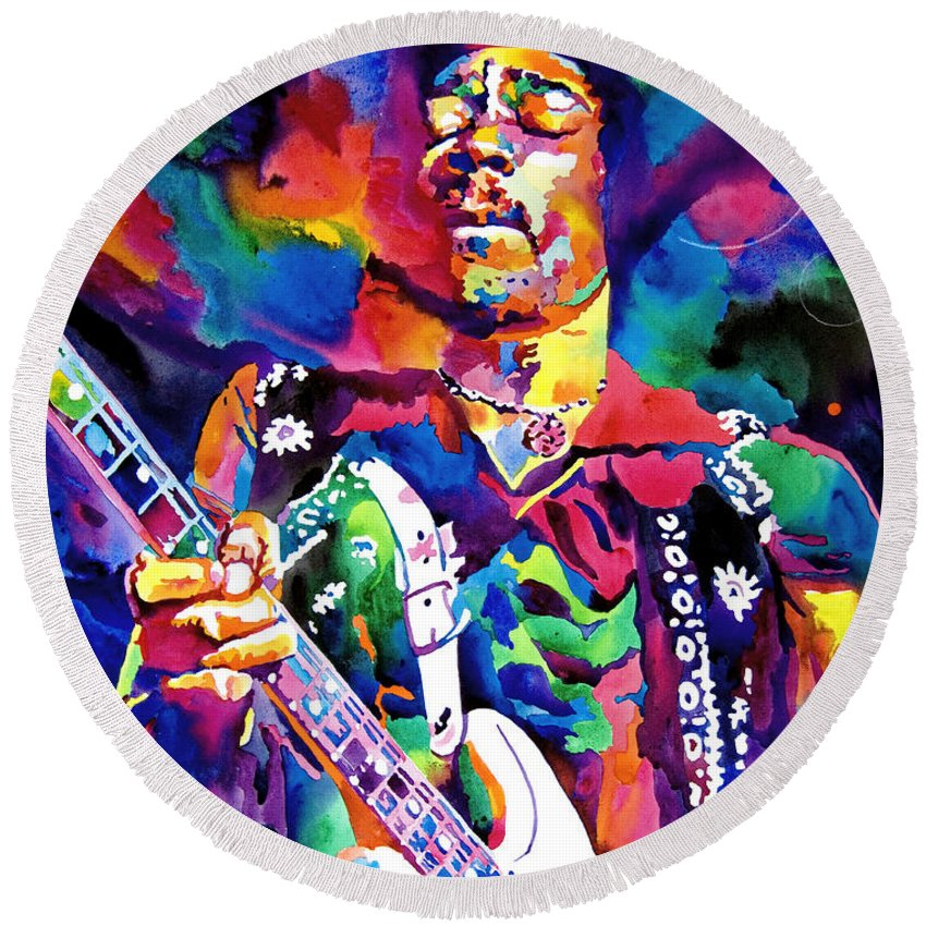 Rock Jimi Hendrix Music Round Beach Towels