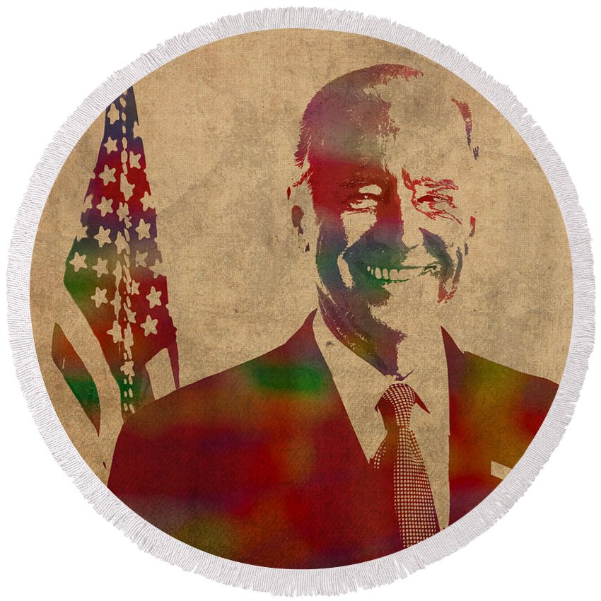 Joe Biden Round Beach Towels