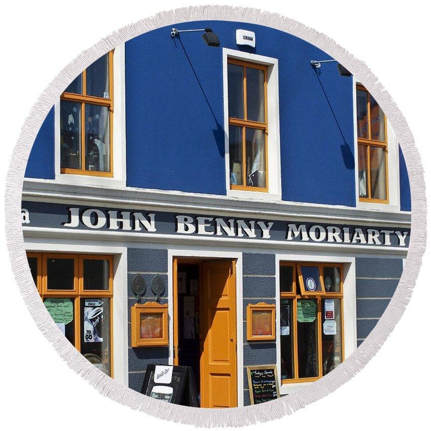 Irish Round Beach Towel featuring the photograph John Benny by Teresa Mucha