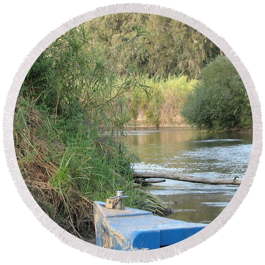 Landscape Round Beach Towel featuring the photograph Jordan River by Sandra Bourret