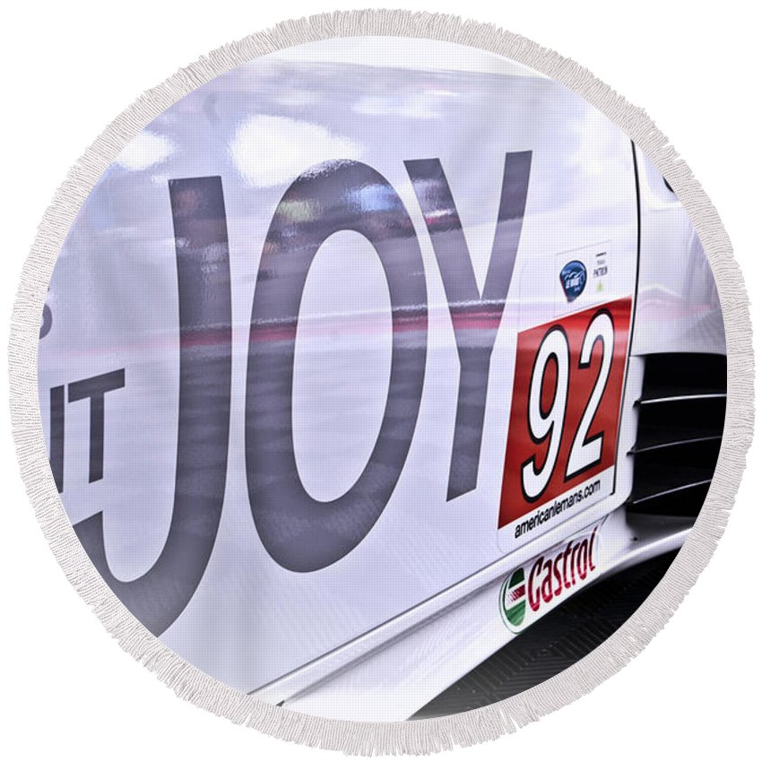 Auto Round Beach Towel featuring the photograph Joy Toy by Scott Wyatt