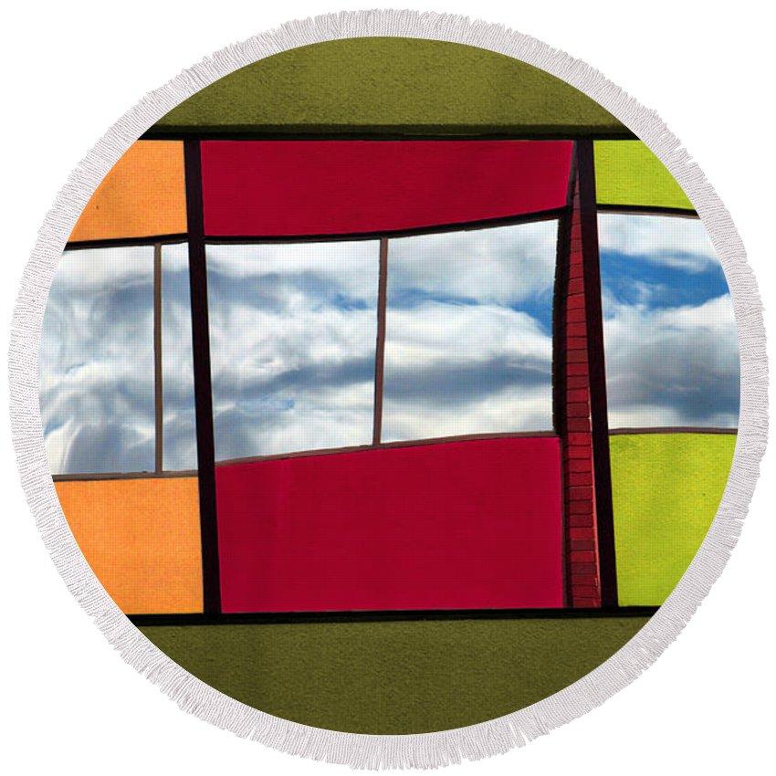 Windows Round Beach Towel featuring the photograph June 3 2010 by Tara Turner