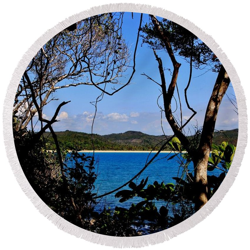 Madagascar Round Beach Towel featuring the photograph Jungle Portal by Stacie Gary