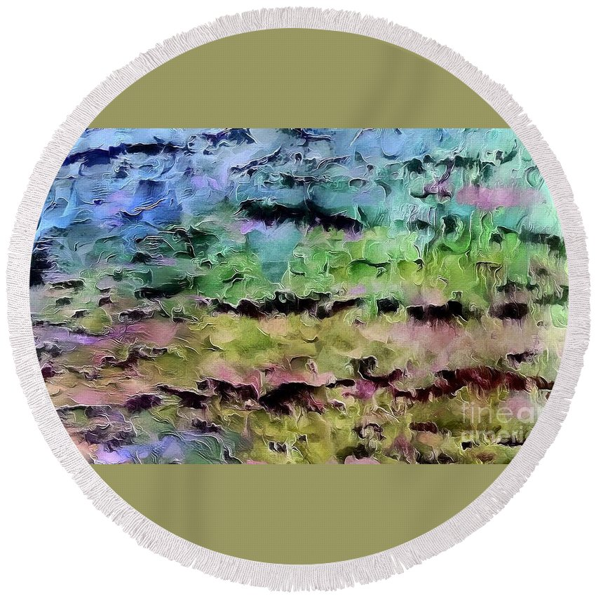 Abstract Round Beach Towel featuring the photograph Just Imagine by Krissy Katsimbras