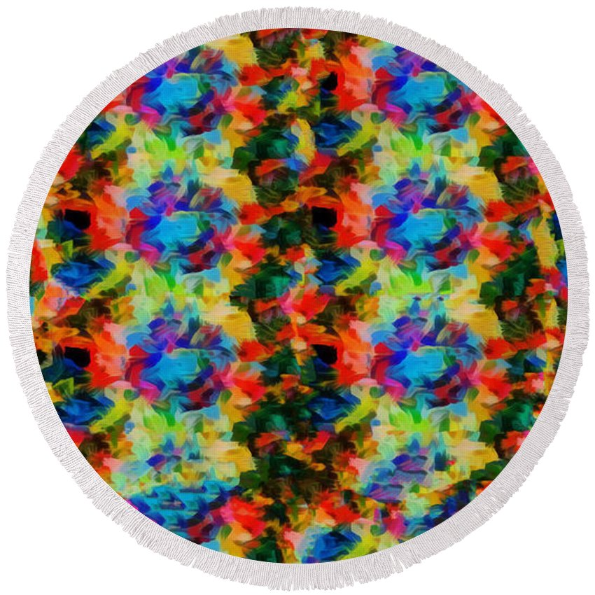 Kaleidoscopic Round Beach Towel featuring the photograph Kaleid Fantasia by Jack Torcello