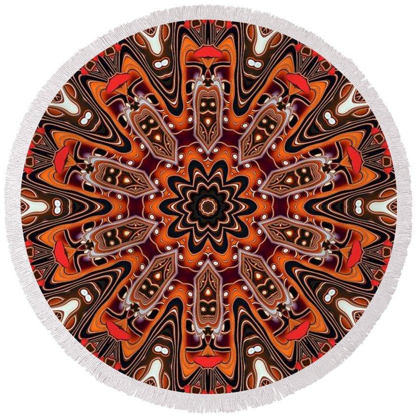 Kaleidoscope Round Beach Towel featuring the photograph Kaleidoscope 85 by Ron Bissett