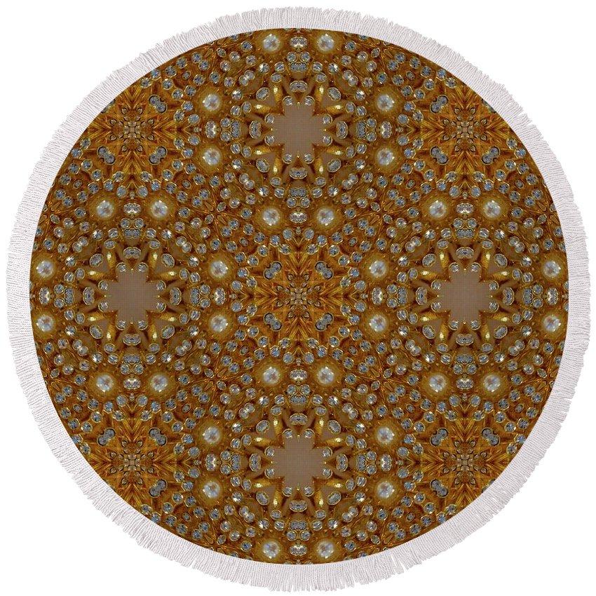 Digital Kaleidoscopes Round Beach Towel featuring the photograph Kaleidoscopes0 10 by David Lange