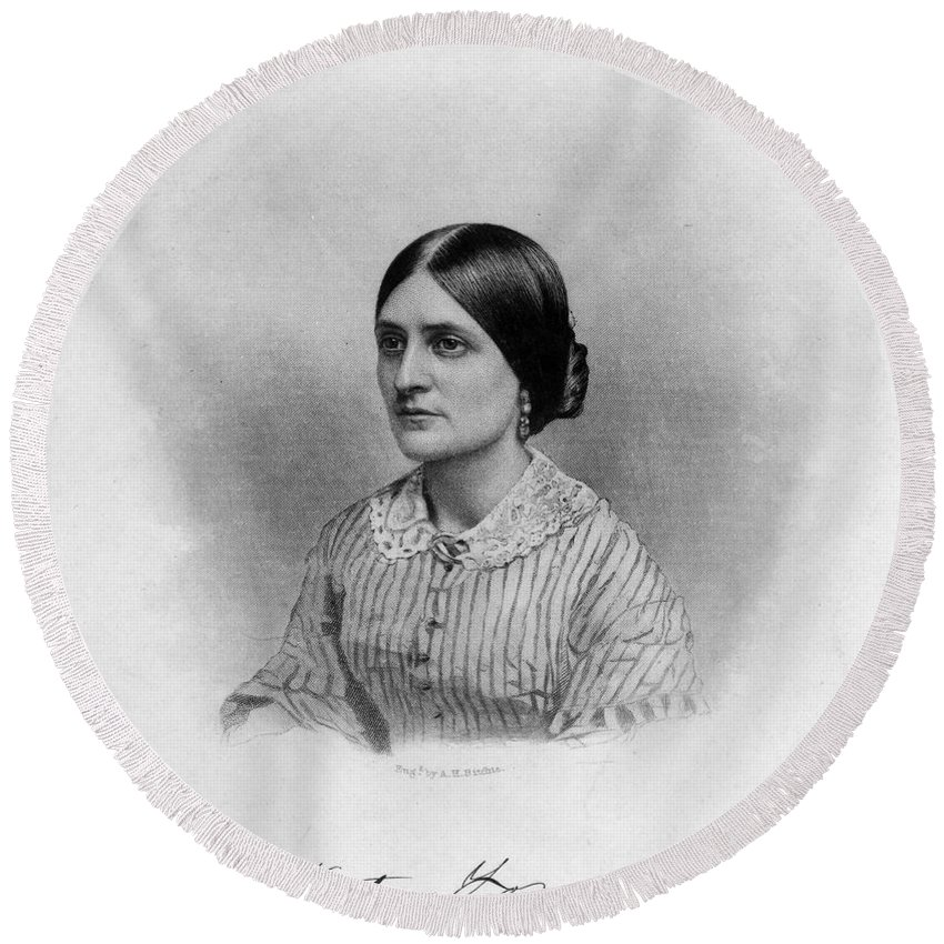 19th Century Round Beach Towel featuring the photograph Kate Fox (1837-1892) by Granger