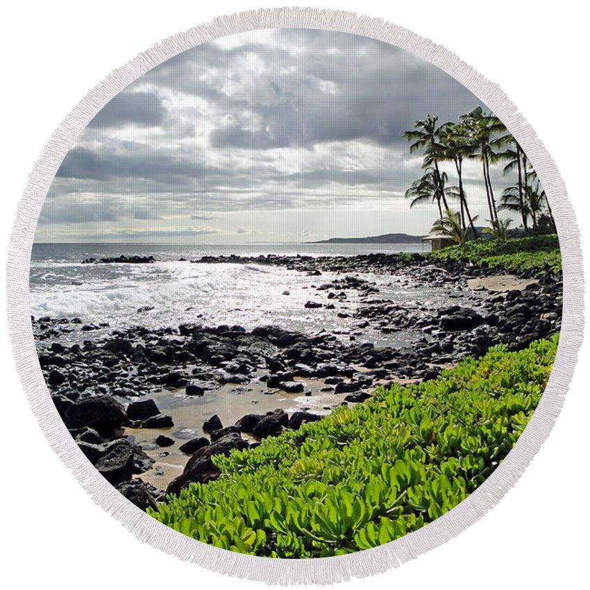Kauai Round Beach Towel featuring the photograph Kauai Afternoon by Robert Meyers-Lussier