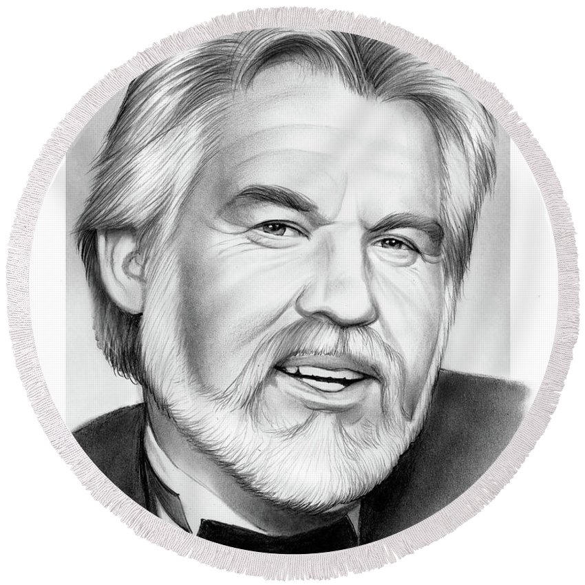 Kenny Rogers Round Beach Towels