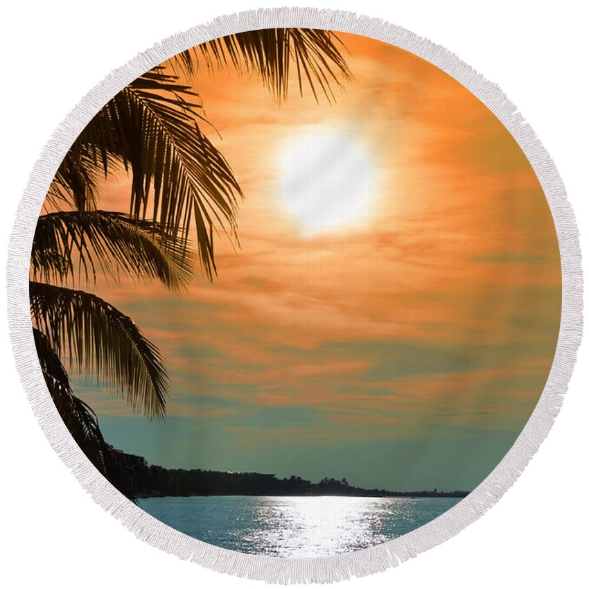 Key West Round Beach Towel featuring the photograph Key West Florida by Bill Cannon