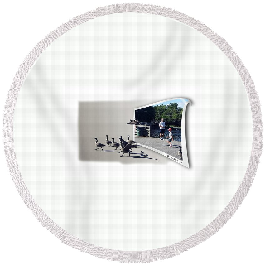 2d Round Beach Towel featuring the photograph Kids Will Be Kids by Brian Wallace