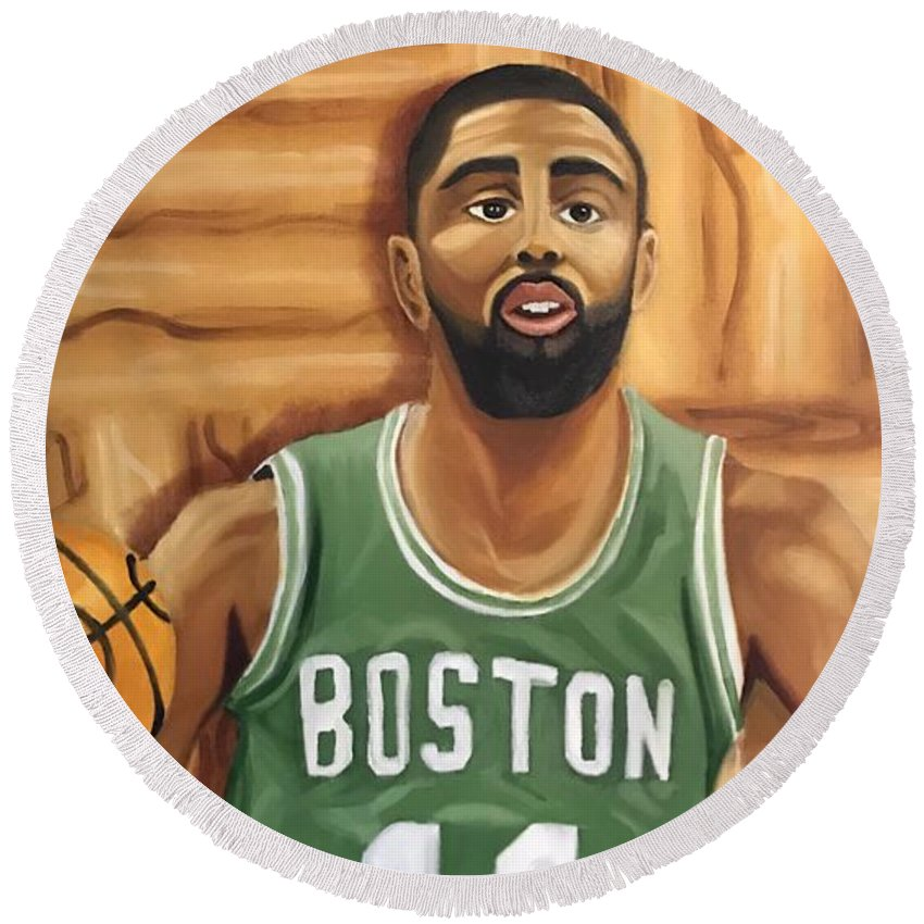 06db95ee6d0 Kyrie Irving Oil Painting Round Beach Towel for Sale by Tucker James