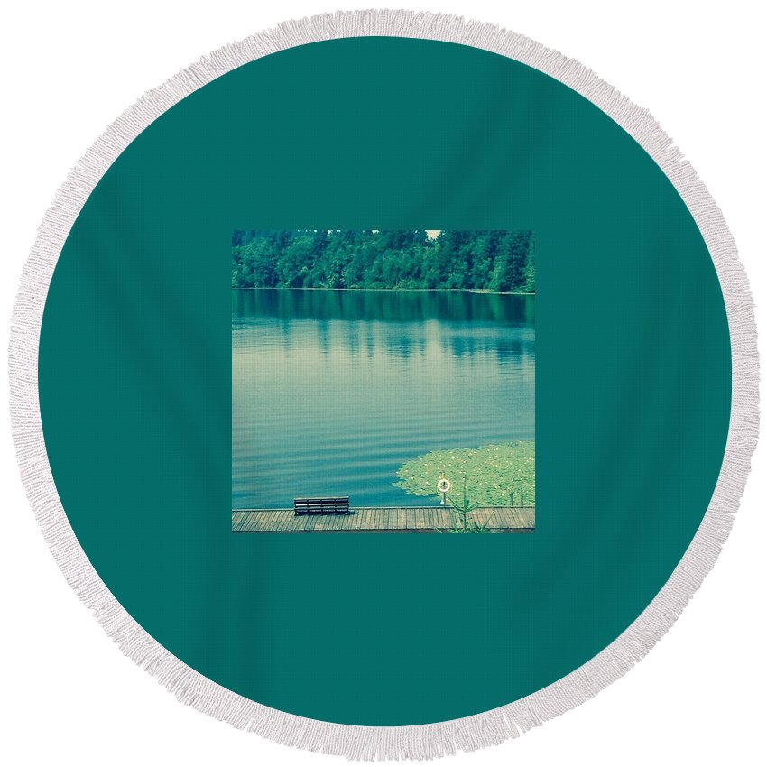 Lake Round Beach Towel featuring the photograph Lake by Andrew Redford