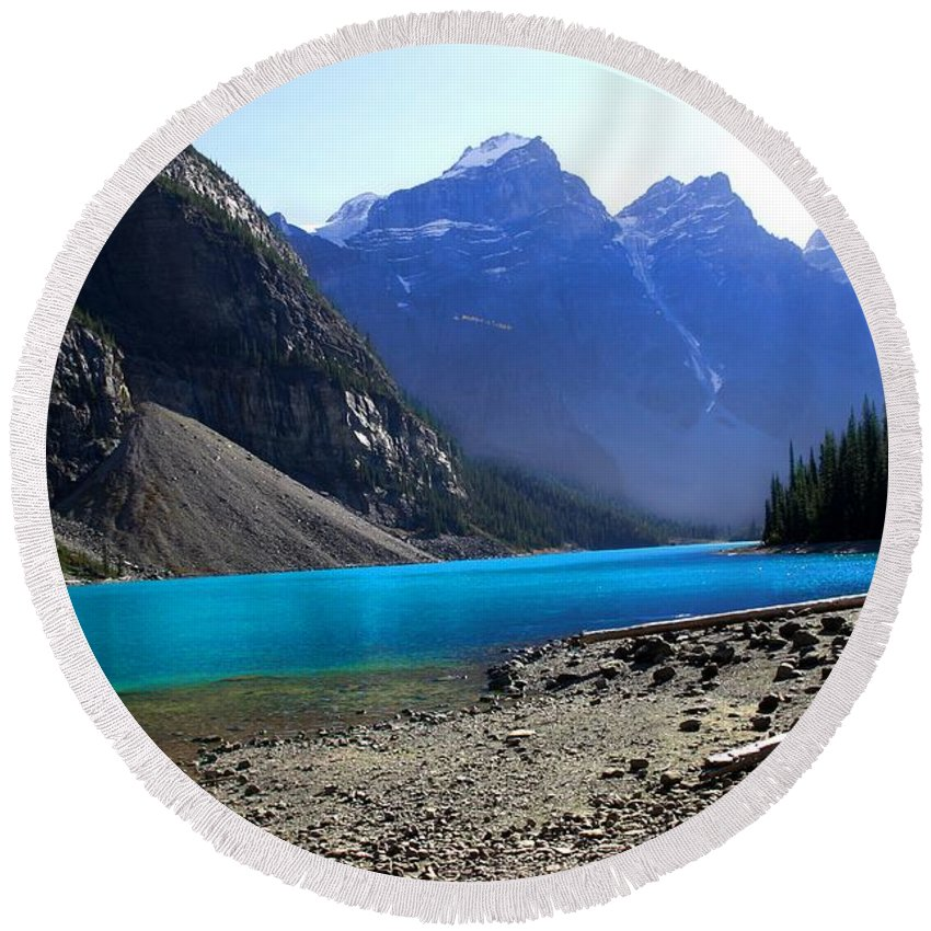 Lake Round Beach Towel featuring the photograph Lake Louise by Marcin and Dawid Witukiewicz