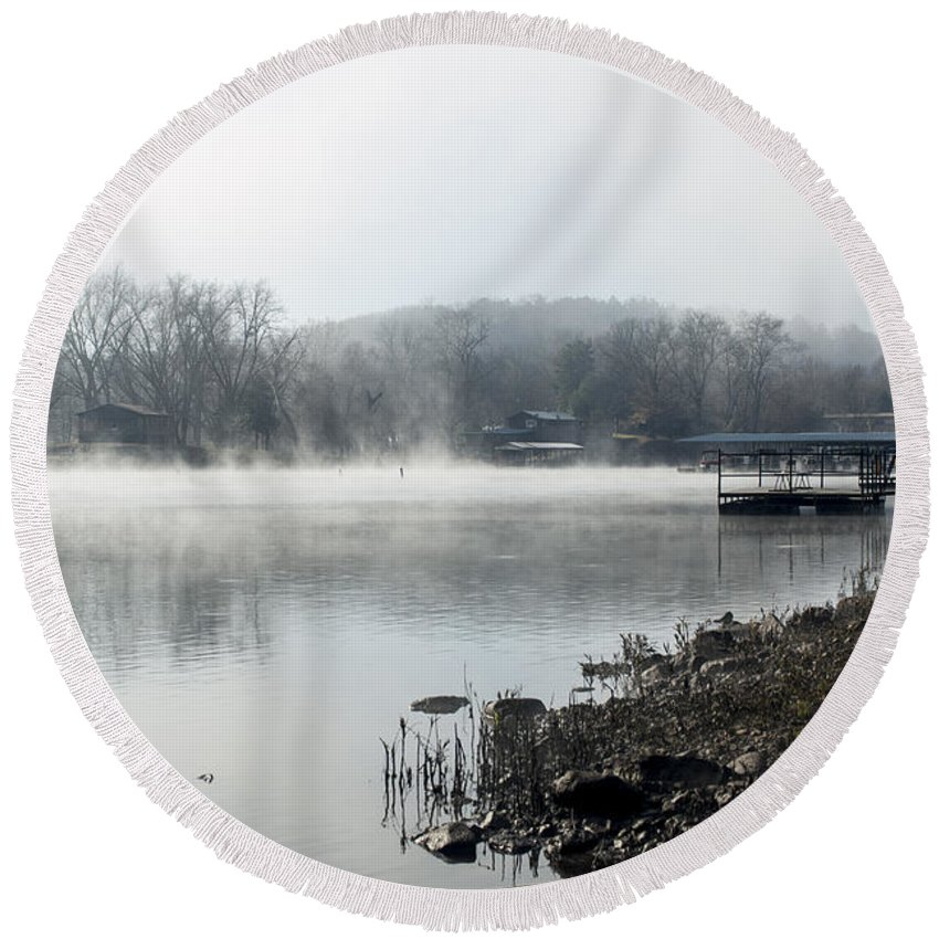 Lake Tanneycomo Round Beach Towel featuring the photograph Lake Tanneycomo by Annette Persinger