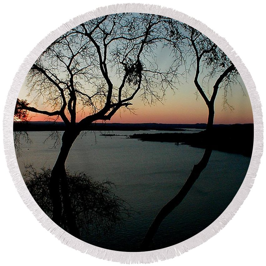 Lake Travis Round Beach Towel featuring the photograph Lake Travis by Robert Meanor
