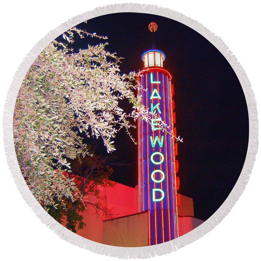 Theater Round Beach Towel featuring the photograph Lakewood Theater by Debbi Granruth