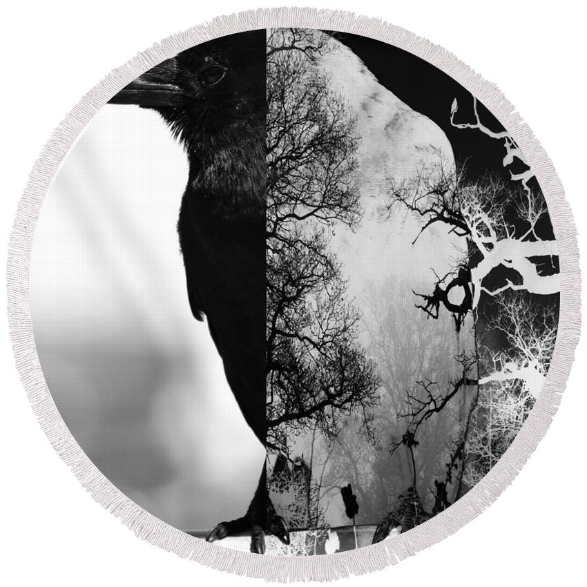 Abstract Round Beach Towel featuring the photograph Land With Plenty by The Artist Project