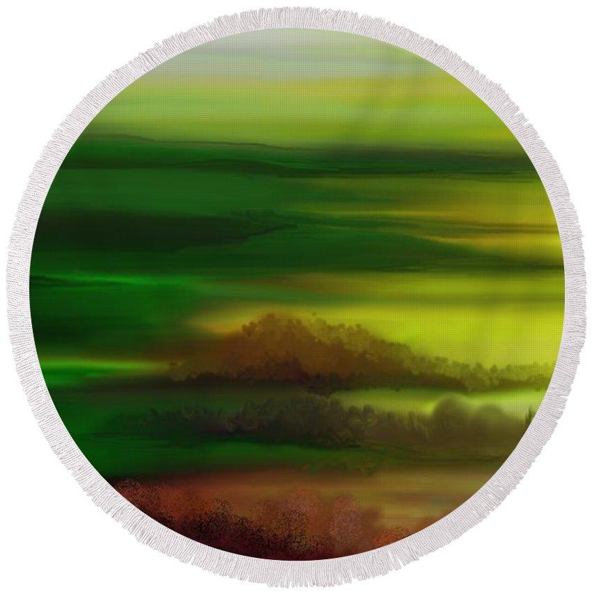 Landscape Round Beach Towel featuring the digital art Landscape 081710 by David Lane
