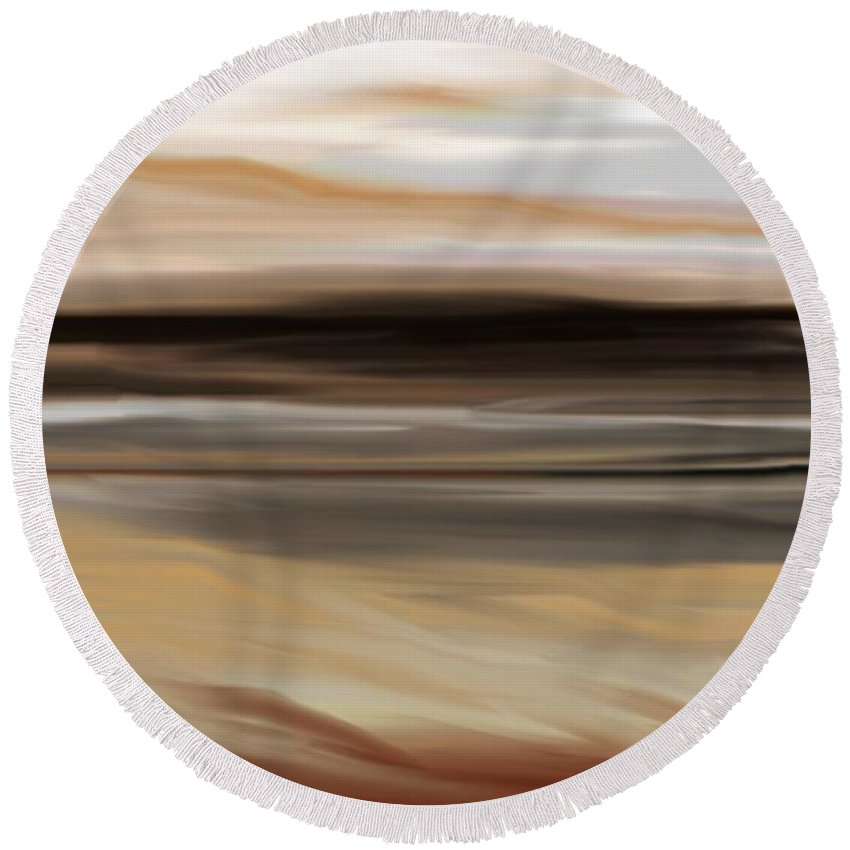 Landscape Round Beach Towel featuring the digital art Landscape 103010 by David Lane