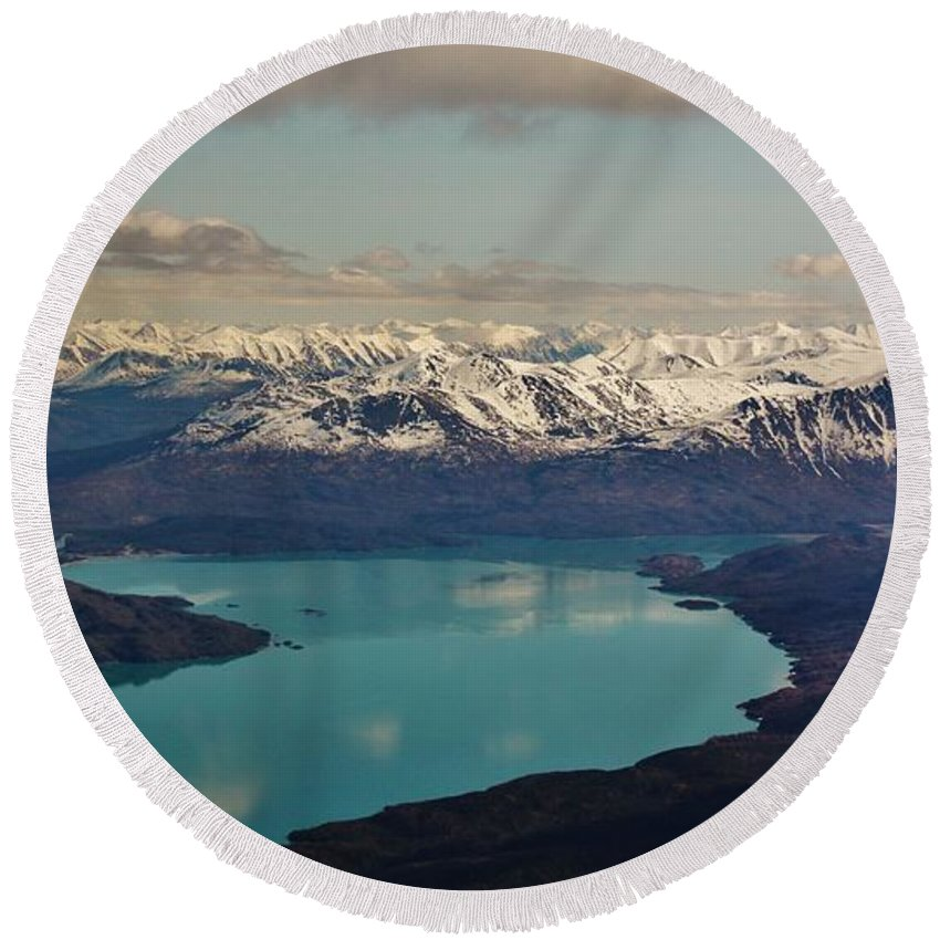 Round Beach Towel featuring the photograph Landscapes Of Alaska by Lori Mahaffey