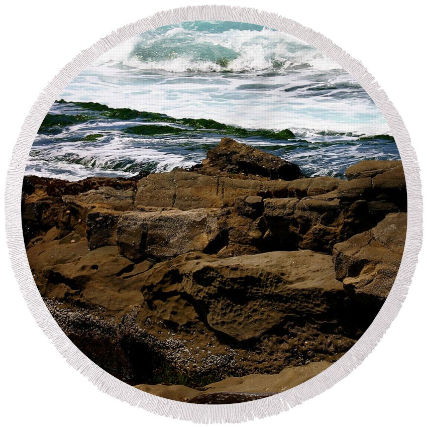 Beach Round Beach Towel featuring the photograph Lazy Days by Anthony Jones