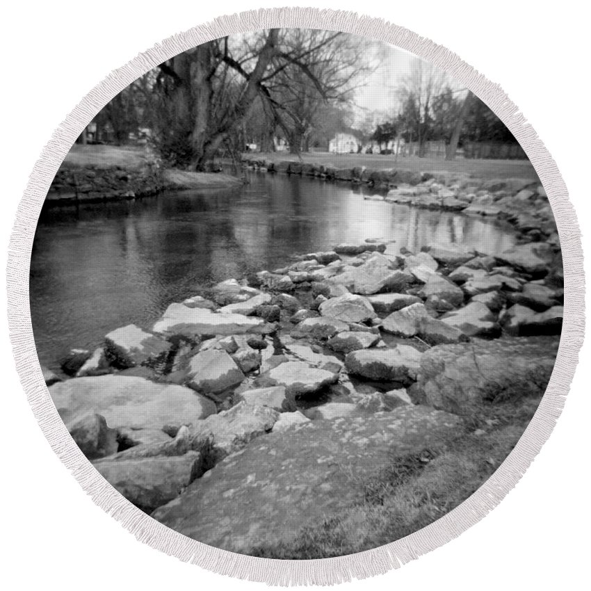 Photograph Round Beach Towel featuring the photograph Le Tort Spring Run by Jean Macaluso