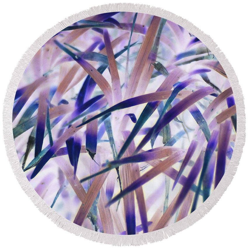 Leaf Round Beach Towel featuring the photograph Leaf Tips by Don Zawadiwsky