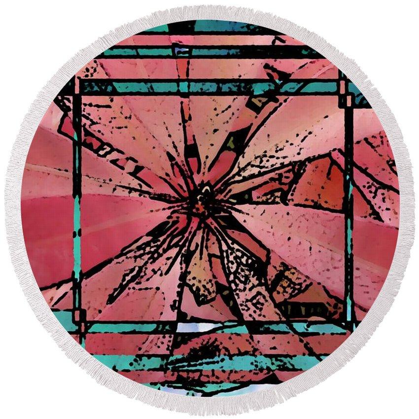 Leaf Round Beach Towel featuring the digital art Leafy Delight 2 by Tim Allen