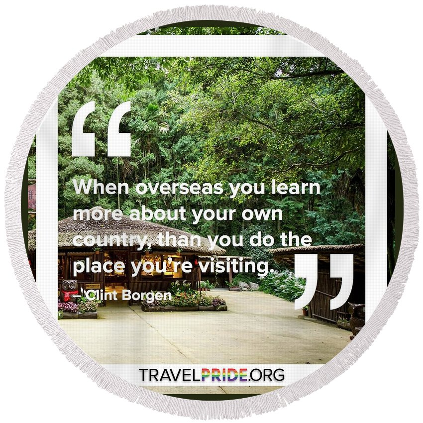 Travel Round Beach Towel featuring the digital art Learning More by Travel Pride