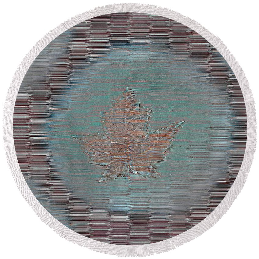 Leaves Round Beach Towel featuring the photograph Leaves And Rain 7 by Tim Allen