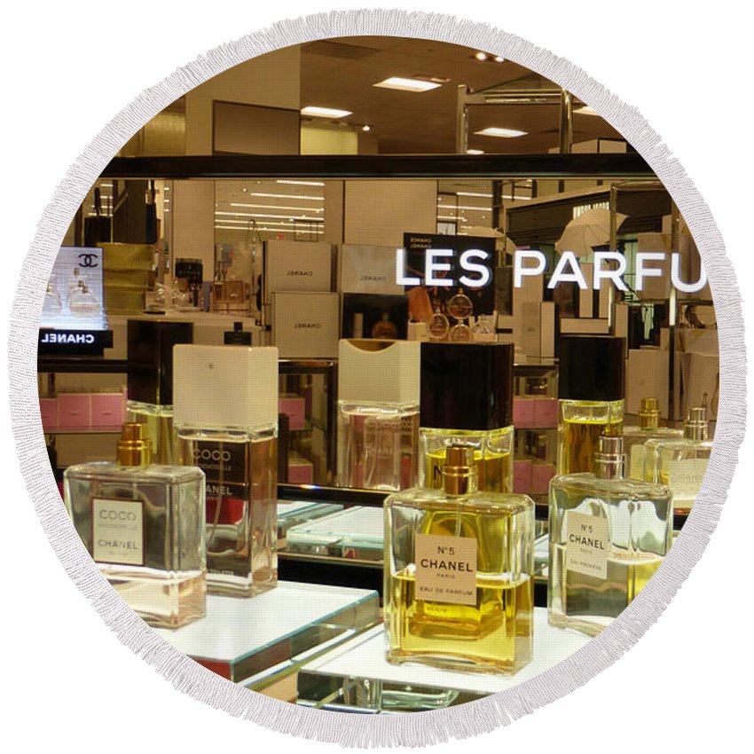Chanels Round Beach Towel featuring the photograph Les Parfums by To-Tam Gerwe