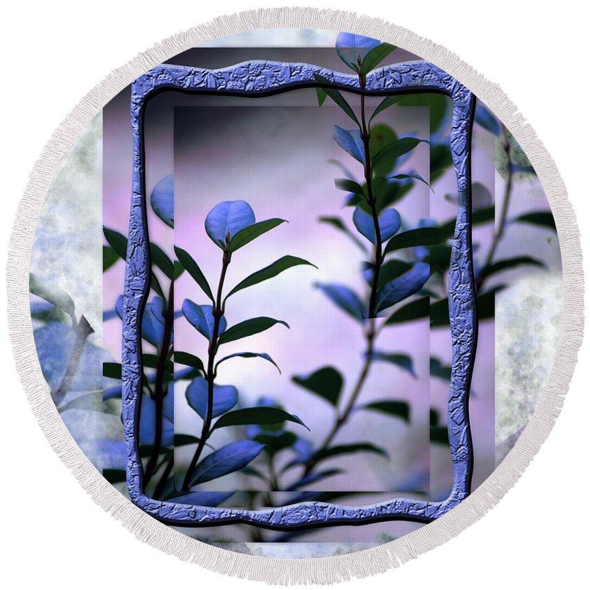 Purple Round Beach Towel featuring the digital art Let Free The Pain by Vicki Ferrari
