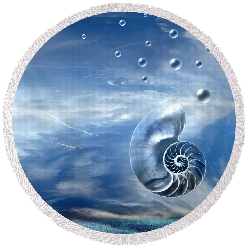 Surreal Round Beach Towel featuring the photograph Life by Jacky Gerritsen