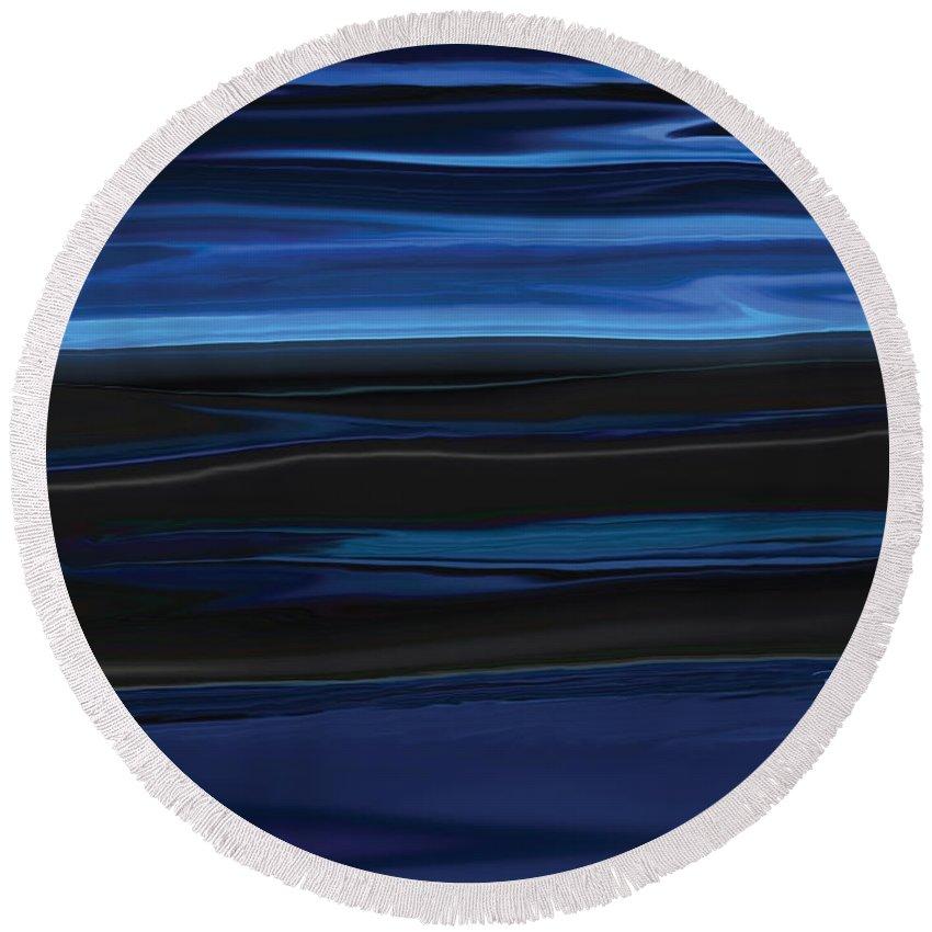 Black Round Beach Towel featuring the digital art Light On The Horizon by Rabi Khan