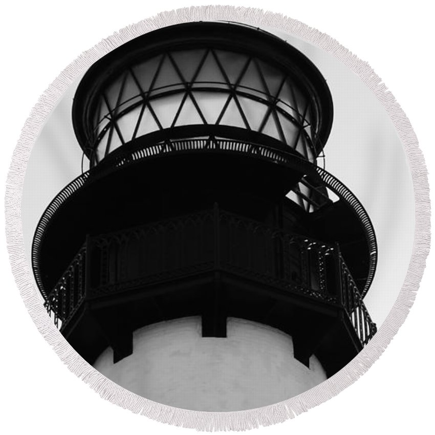 Lighthouse Round Beach Towel featuring the photograph Lighthouse by Carlos Amaro