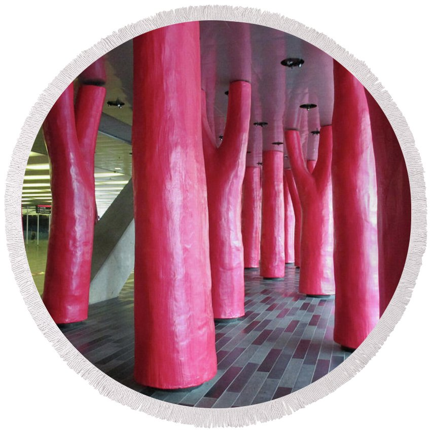 Montreal Round Beach Towel featuring the photograph Lipstick Forest 2 by Randall Weidner